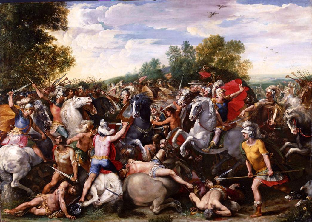 Giuseppe Cesari c1601 La Victoire de Tullus Hostilius sur les forces de Veies et de Fidena