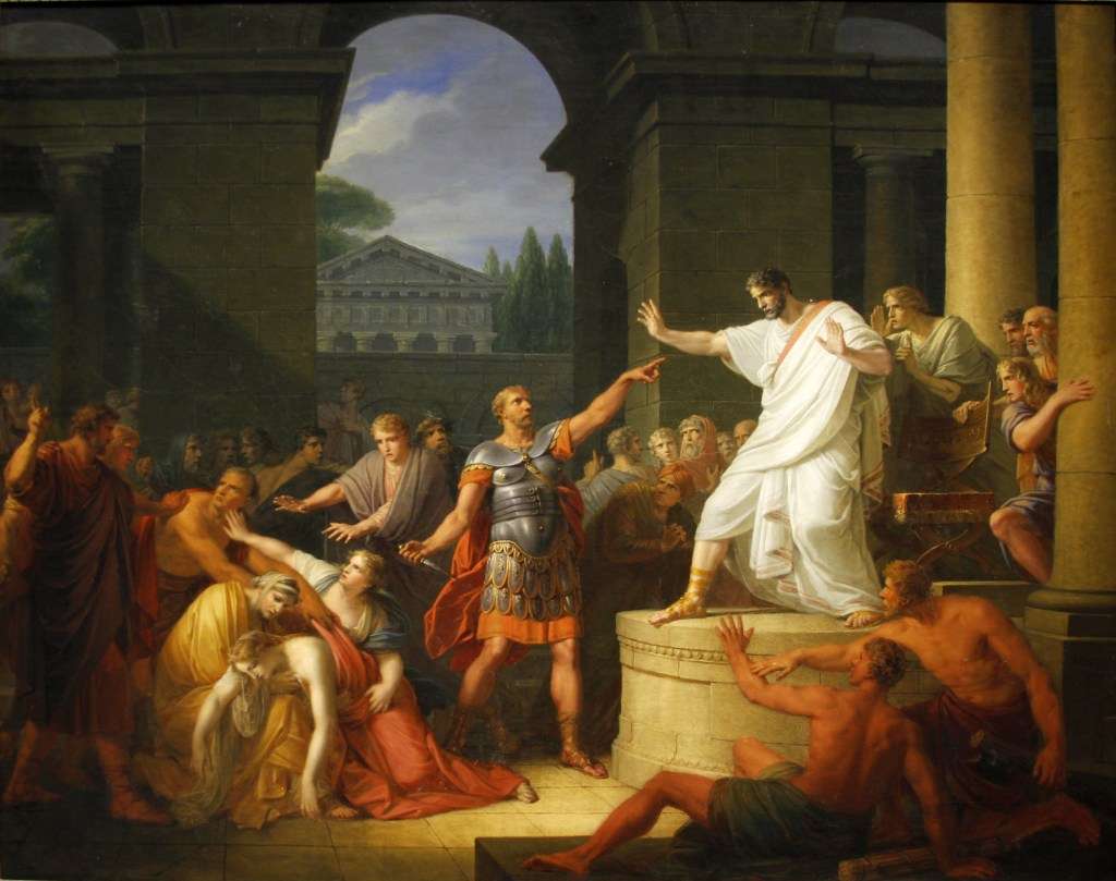 The death of Virginia or Verginia by Heinrich Friedrich Fuger